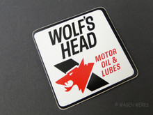 Vintage Gasser Sticker - Wolf's Head Motor Oil 1970s