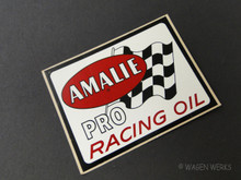 Vintage Gasser Sticker - Amalie Pro Racing Oil 1970s