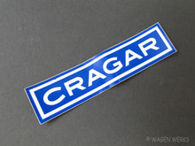 Vintage Gasser Sticker - Cragar Wheels 1970's