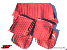 Seat Covers - Bug Sedan 1965 to 1967 - Front & Rear Red Smooth Vinyl