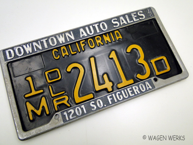 Vintage Dealer Plate Frames Downtown Auto Sales Inc Los