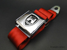 Seat Belt - Chrome Red Front and Rear Seat Chrome