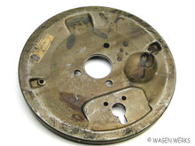 Brake Backing Plate - Front Left Bug 1949 to 1957 NOS