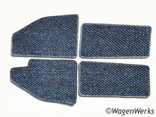 Coco Mats - Bug 1958 to 1959 Blue/ Black