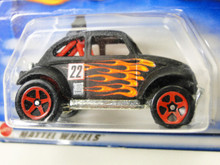 Hot Wheels - Baja Bug 2002 -#207 Flat Black w/Flames