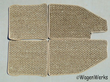 Coco Mats - Bug 1973 to 1979 Tan/ Oatmeal w/ No Foot rest