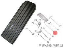 Accelerator Pedal - Type 2 1968 to 1972