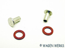 Vent Wing Pivot Rivet Kit - Bug  - pair