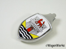 Hood Crest - Bug 1951 to 1962 White & Yellow - Aftermarket