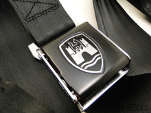 Seat Belt - Black Black Front and Rear Seat