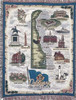 Delaware Nutmeg state tapestry throw blanket- ES
