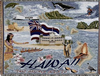 Hawaii state tapestry throw blanket -ES