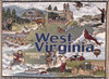 West Virginia mountain state tapestry throw blanket