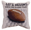 Life begins, football season tapestry throw pillow-sports collectible