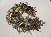 Vintage GRIPOX Poured Glass Fruit Dangles Necklace Summer Garden Extra Long