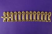 Vintage Wide GOLD KJL BRACELET GREEK COLUMNS Statement BOOK PIECE