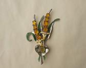 1930's ART DECO CORO Exotic Flower Bouquet PIN Enamel  Pin Garden Brooch Wedding