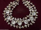 3 Strand SEASHELL Necklace WAVY TURBAN Shells MOP Beads