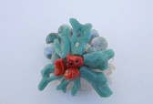 Wild Starfish Bracelet Turqoise Blue Plastic Coral Beads Red Coral Beach Summer