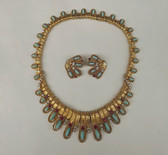 Rare BOUCHER Jeweled COLLAR Necklace & Earrings Set Jewels of India Style