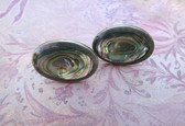 Vintage TAXCO MEXICO STERLING SILVER ABALONE SHELL CUFFLINKS