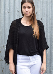 Charcoal merino wool shrug