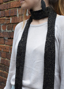 Merino and Lurex Skinny Scarf