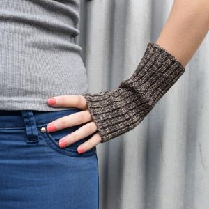 Wool Wrist Warmers - Tortoiseshell