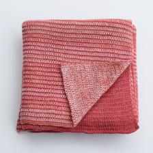 Merino wool baby blanket - pink