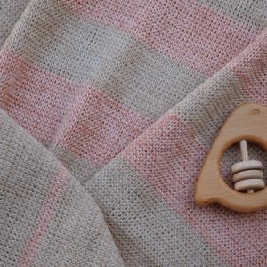 Soft Pink merino wool baby blanket