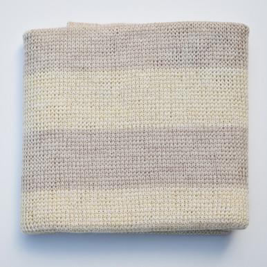 Cream merino wool baby blanket