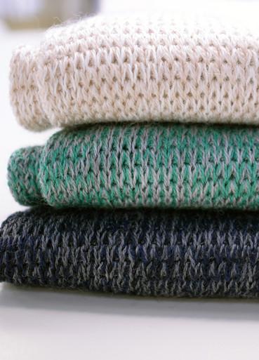 Basic Scarf in Latte, Grey Green, Grey Blue