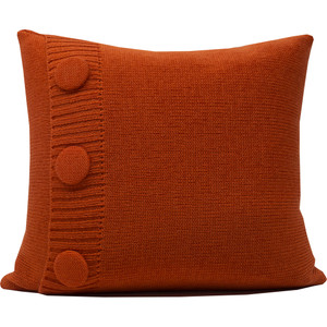 Knitted Wool Cushion - Orange