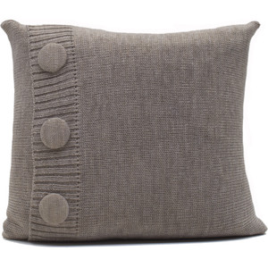 Knitted Wool Cushion - Linen