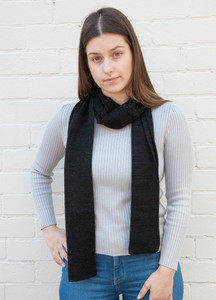 black basic scarf