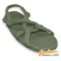 Classic Barbados Olive Rope Sandals