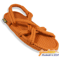 Classic Barbados Rust Rope Sandals