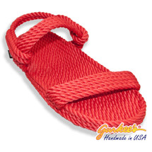 Classic Montego Red Rope Sandals