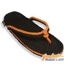 Signature Tobago Black & Rust Rope Sandals