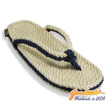 Signature Tobago Natural & Navy Rope Sandals