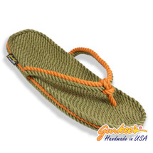 Signature Tobago Olive & Rust Rope Sandals