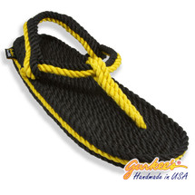 Signature Trinidad Black & Gold Rope Sandals