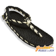 Signature Trinidad Black & Natural Rope Sandals