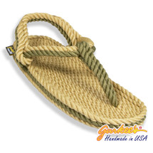 Signature Trinidad Tan & Olive Rope Sandals