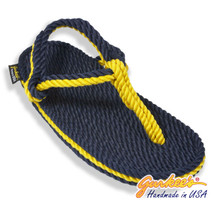 Signature Trinidad Blue & Gold Rope Sandals