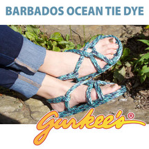 Barbados Ocean Tie Dye Rope Sandals