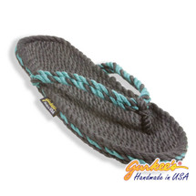 Tobago Charcoal & Teal Twist