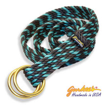 Handmade Charcoal and Teal Belt