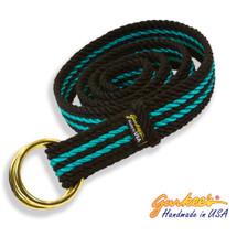 Signature Handmade Black and Teal Rope Belt