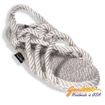 Signature Neptune Platinum Rope Sandals